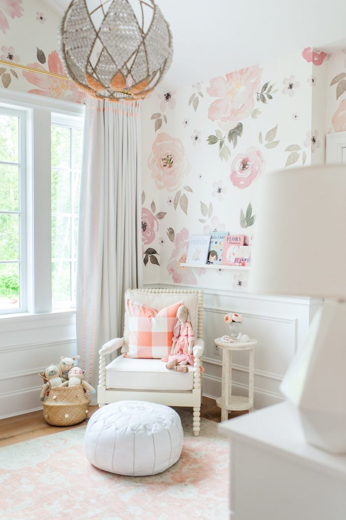 Floral nursery_nursery design_childrens interiors